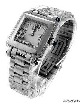 Chopard 278349-3006 Happy Sport Stainless Steel Diamond Watch