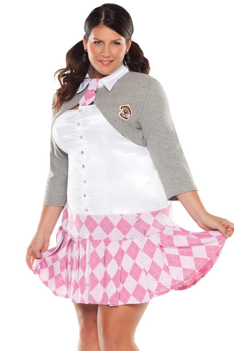 Prep school girl outfit-7813