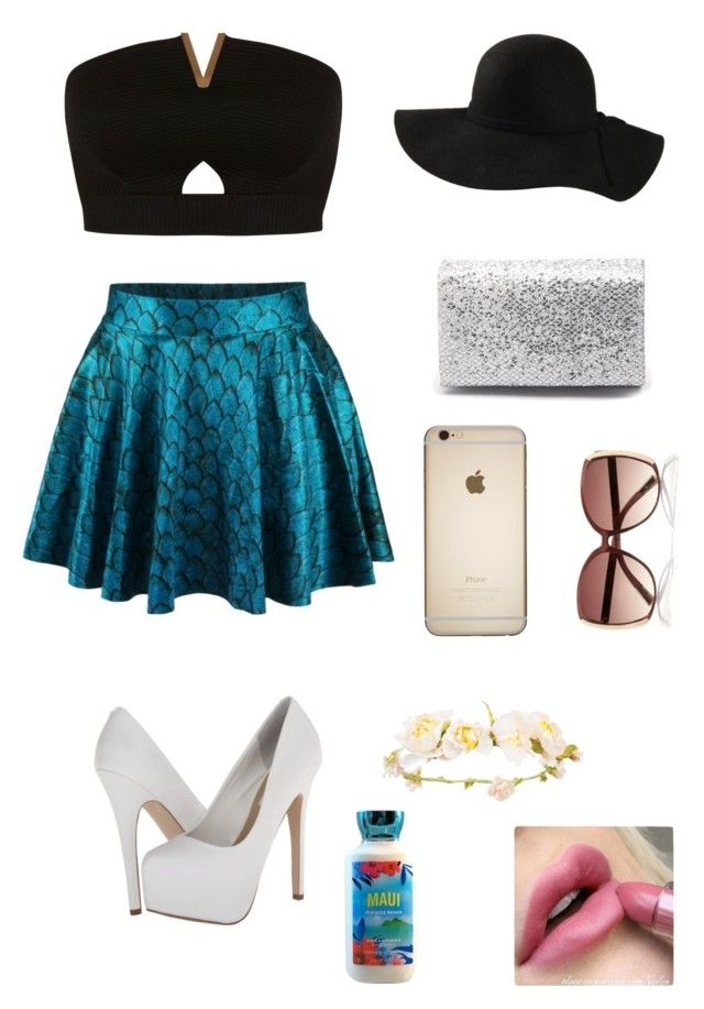 """""""Mermaid Fashion"""" by starbucks-lover03 ❤ liked on Polyvore featuring Miss Selfridge, Steve Madden, Diana Ferrari and River Island"""
