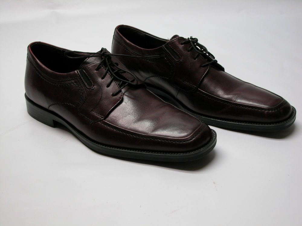 J.Murphy by Johnston & Murphy Dark Cherry Leather Mens Oxfords SZ 8.5 M EUC!!