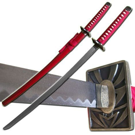 Full Size Japanese Anime Fantasy Sword Renji Abarai Zabimaru Katana Sword Bleach