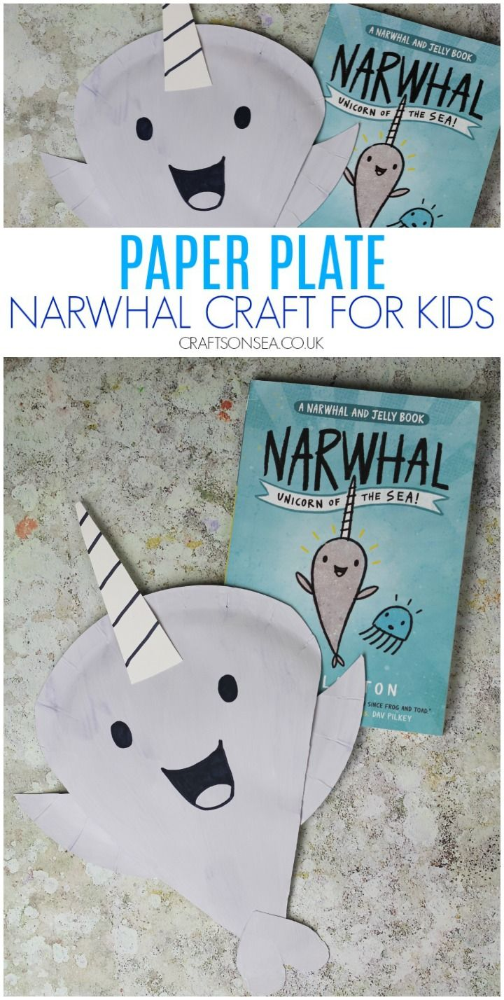 Narwhal and Jelly: Paper Plate Crafts #animalcraftsforkids