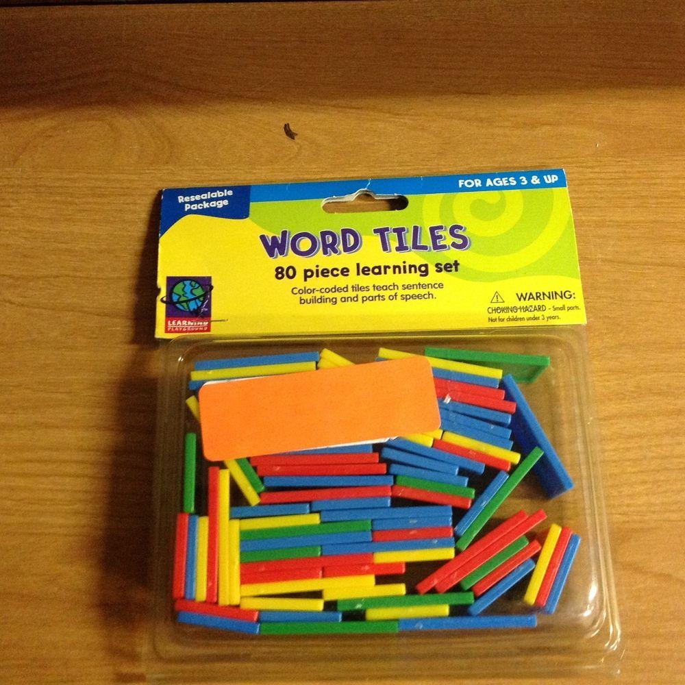 80 PIECE WORD SENTENCE BUILDING, GRAMMAR TILES LEARNING SET