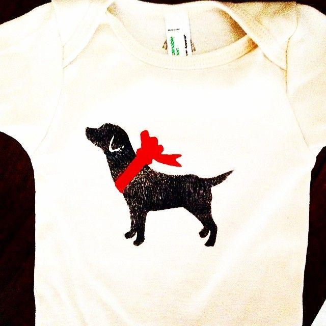 Black Lab Baby Onesie Labrador Infant Clothes Https Www Etsy Com