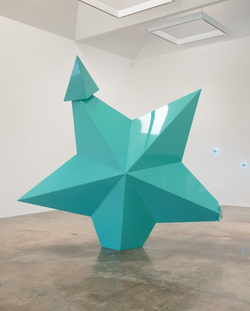 Mark Handforth, 'Turquoise Star,' 2014, Kayne Griffin Corcoran @_colorworks_ #ColorForward2014 #waterways #colors