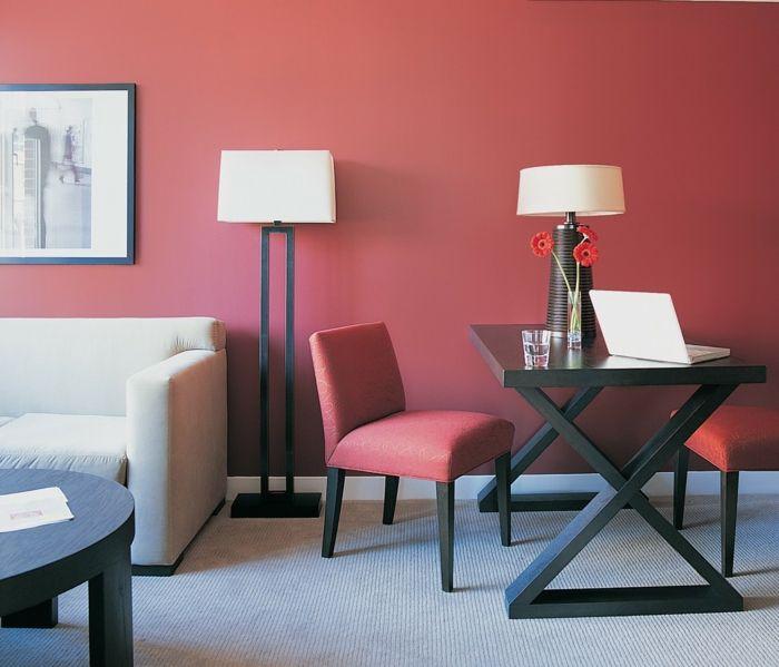 Wunderbar Farbgestaltung Flur Wandgestaltung Wanddesign Pudrig Rot