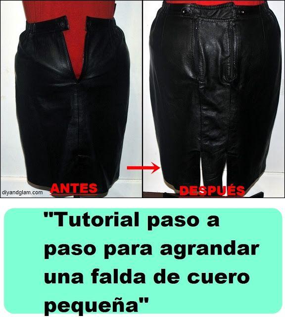 c75833a63 Diy & glam: Tutorial para agrandar una falda pequeña. Resize skirt ...
