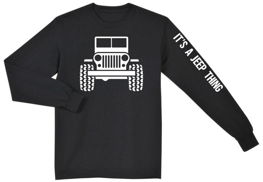 Jeep Wrangler Rubicon Unlimited Cj Yj Long Sleeve T Shirt New