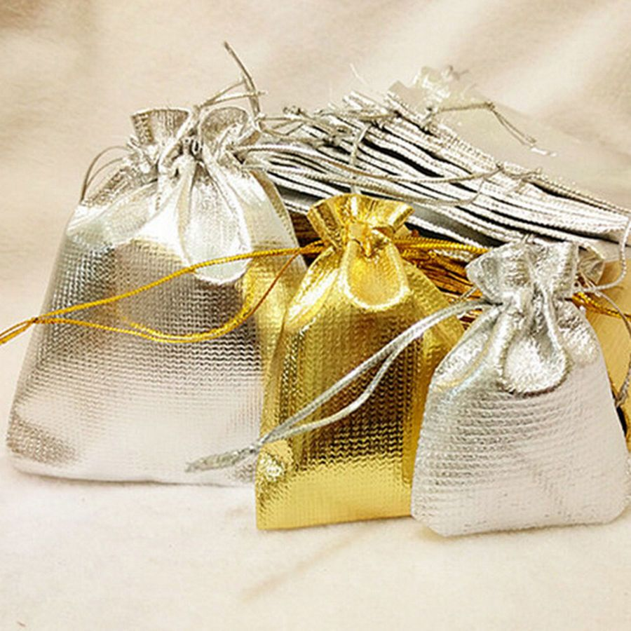 10//20//50 Pcs Organza Wedding Party Favor Candy Bag Jewelry Packing Gift PVCA