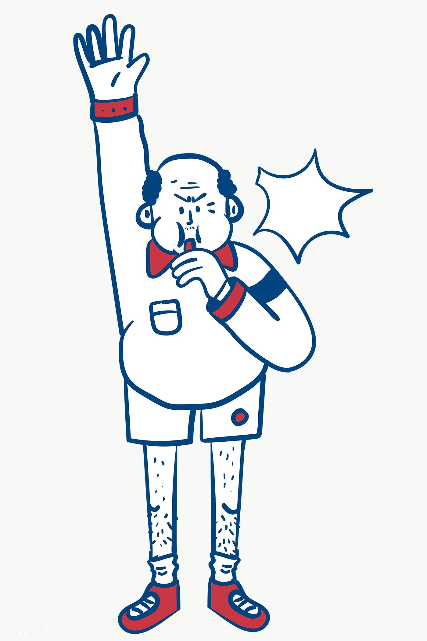Referee blowing a whistle transparent png free image by