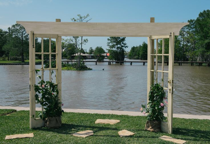 wedding arbor made from recycled french doors | Crafts | Pinterest & wedding arbor made from recycled french doors | Crafts | Pinterest ...