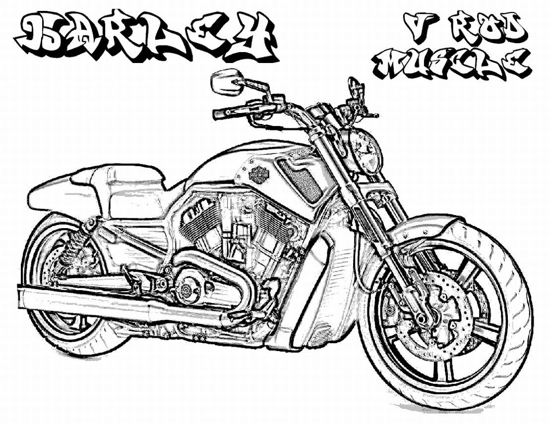 coloring pages for boys to print printable harley davidson