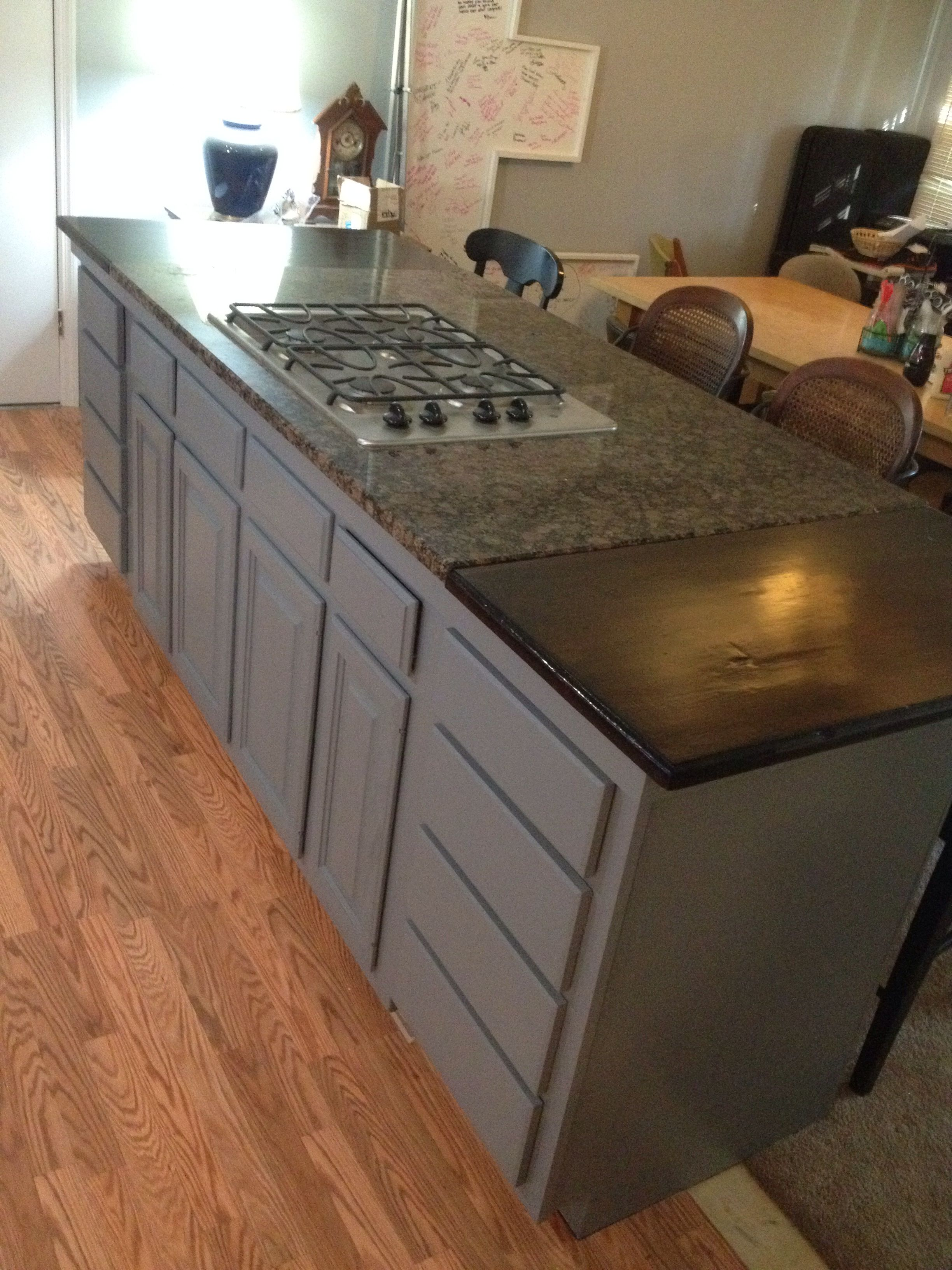7 Foot Kitchen Island And Bar Gas Cooktop Granite And Butcher