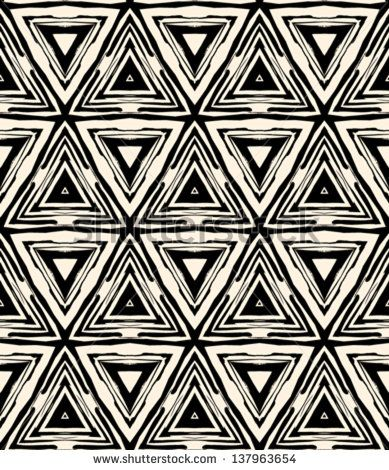 1930s Art Deco Geometric Pattern With Triangles And Random Dots