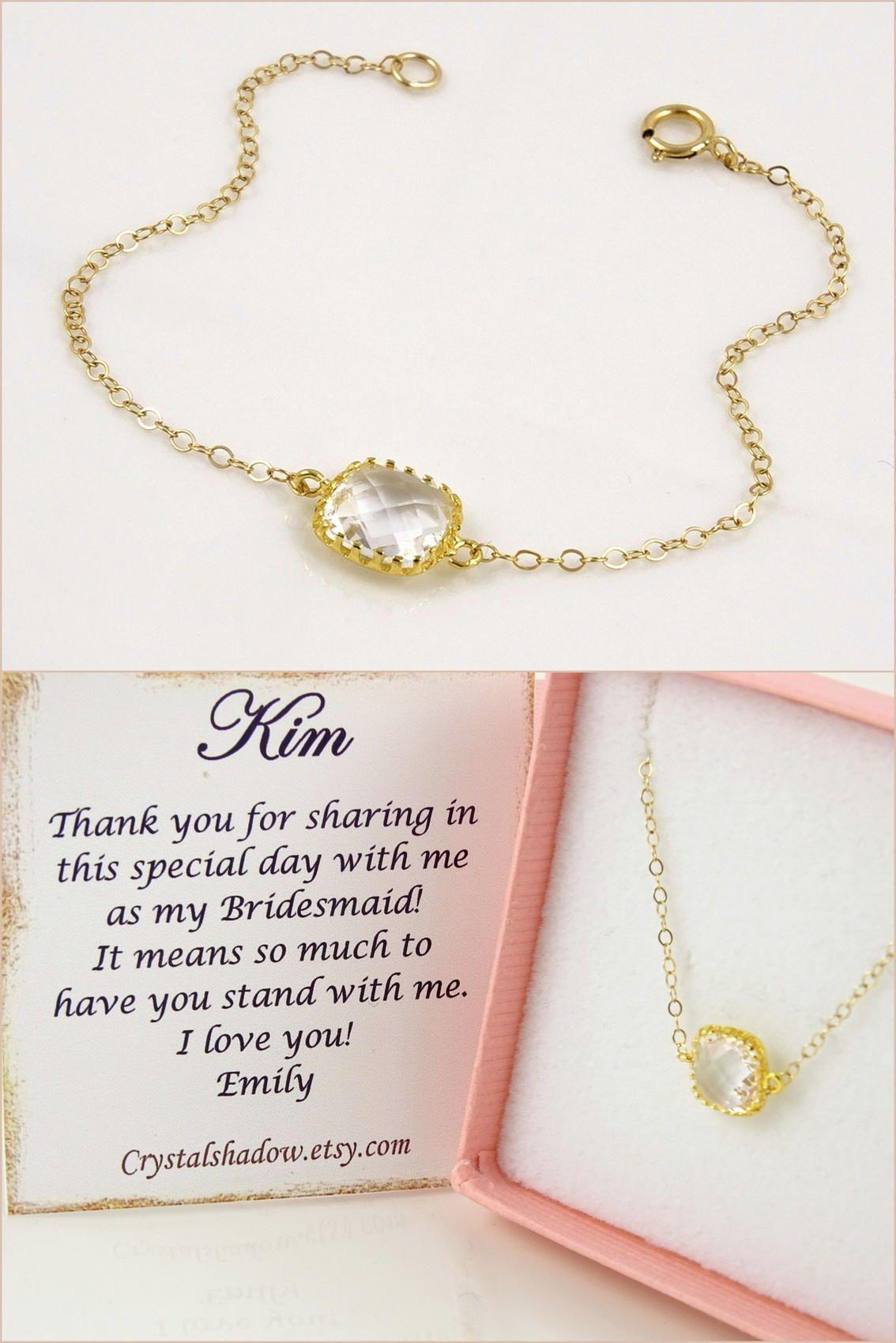Gold bracelet for women clear crystal bracelet delicate bracelet