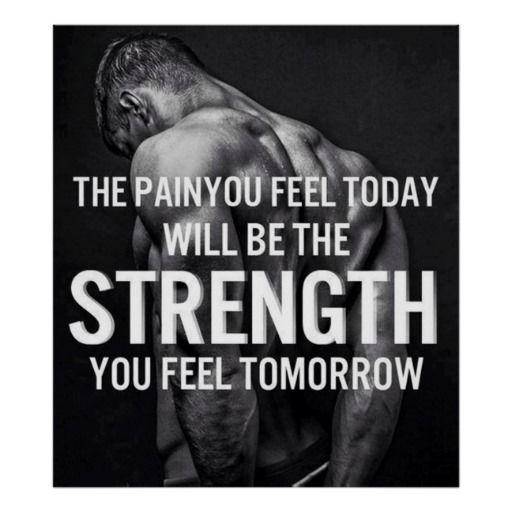 Poster Bodybuilding Men Girl Fitness Workout Quotes Motivational Font Print 033