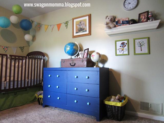 Diy Navy Blue Dresser Re Do Boy Nursery With Paper Lanterns Www
