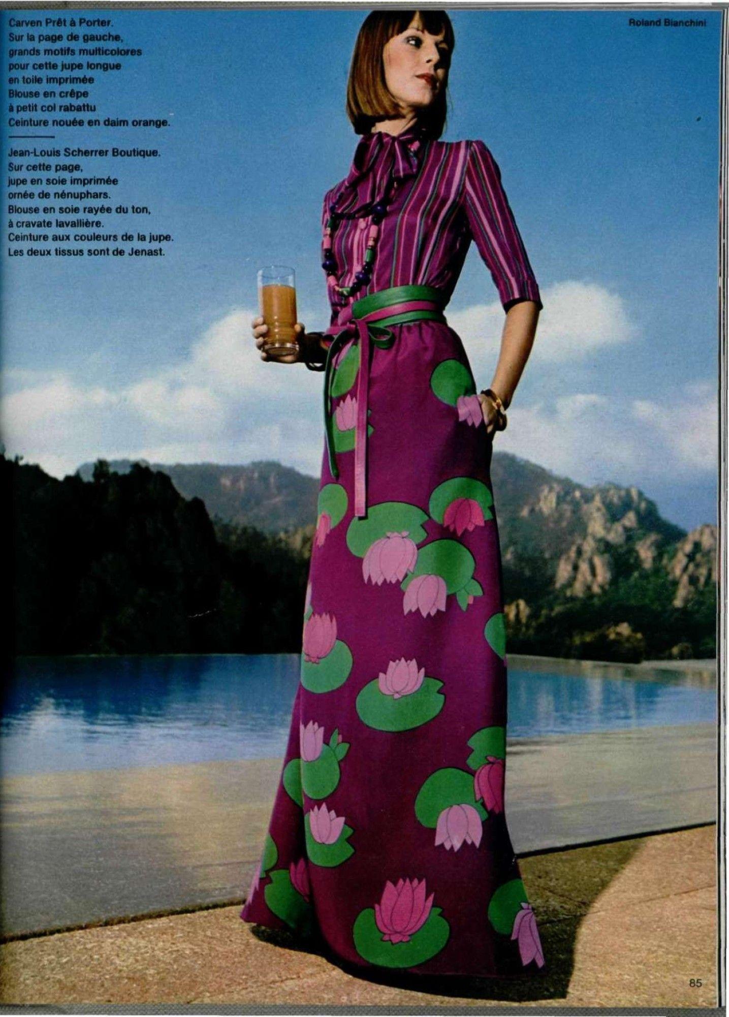 L'OFFICIEL DE LA MODE n°605 de 1974   Винтажная мода ...  Тематические Свадьбы Зимой