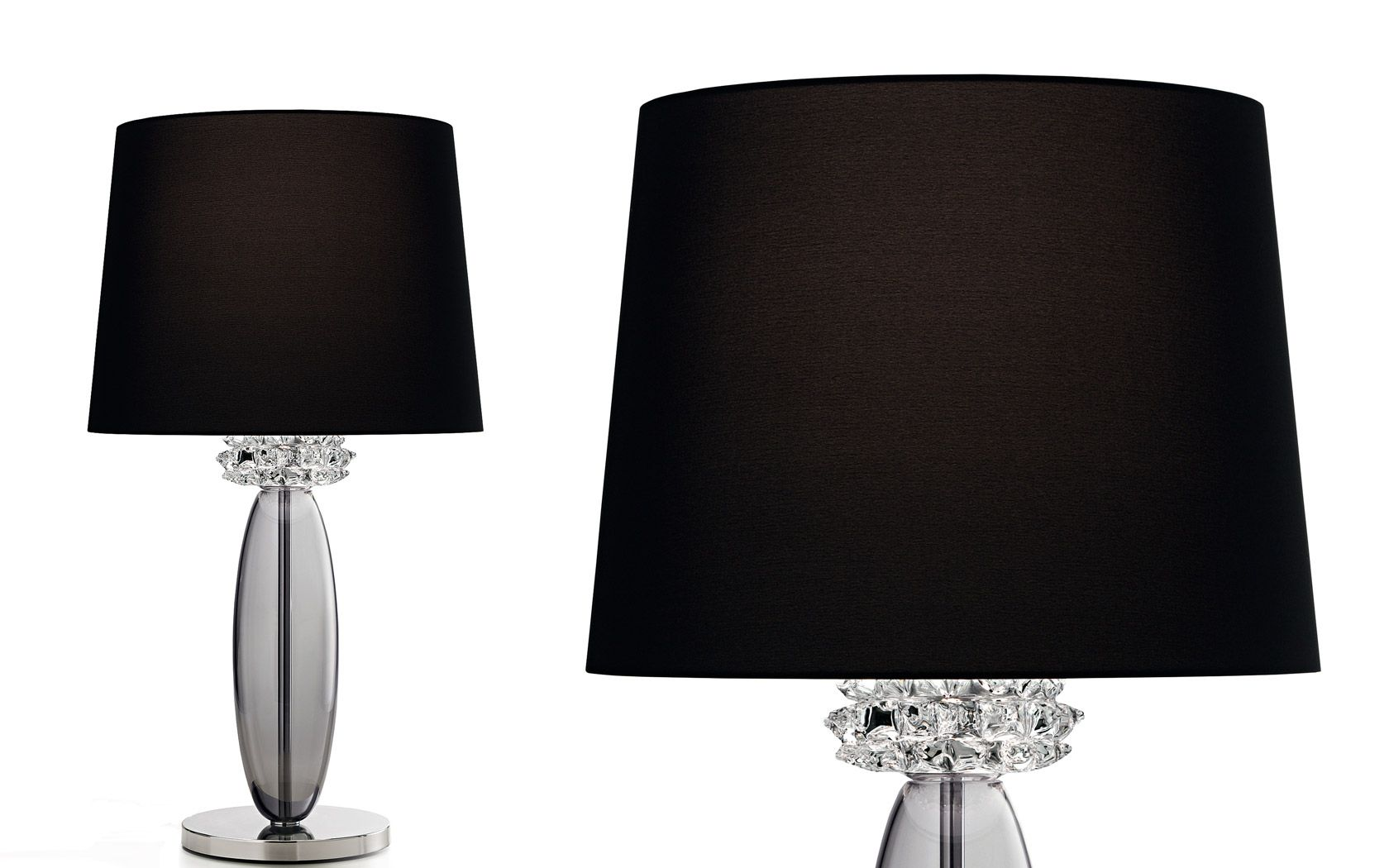 Barovier Toso Table Lamps Rotterdam Gallery Lamp 3d Illusion Lamp Wooden Desk Lamp