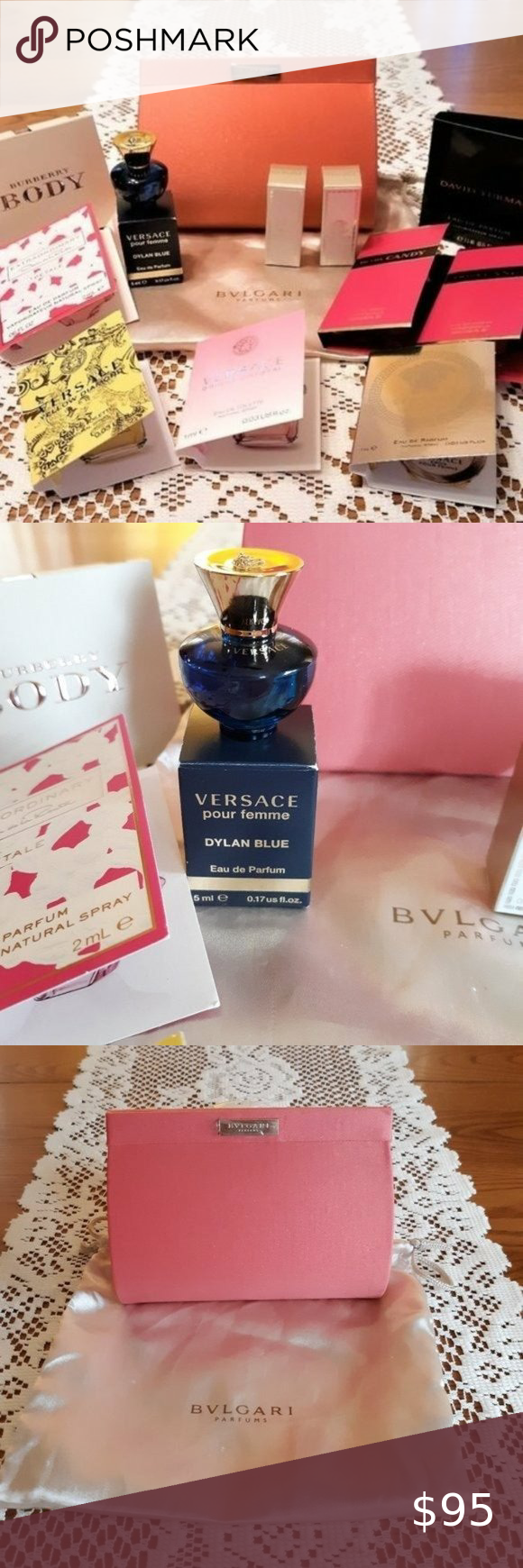 High End Luxury Bundle Sophisticated Mix In 2021 Versace Purses Mini Fragrance Prada Candy