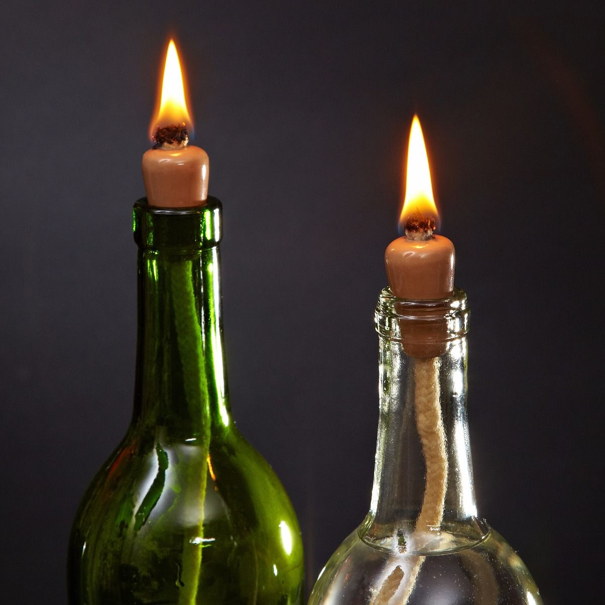 DIY Wine Bottle Candle Wicks AddOn Wine bottle candles