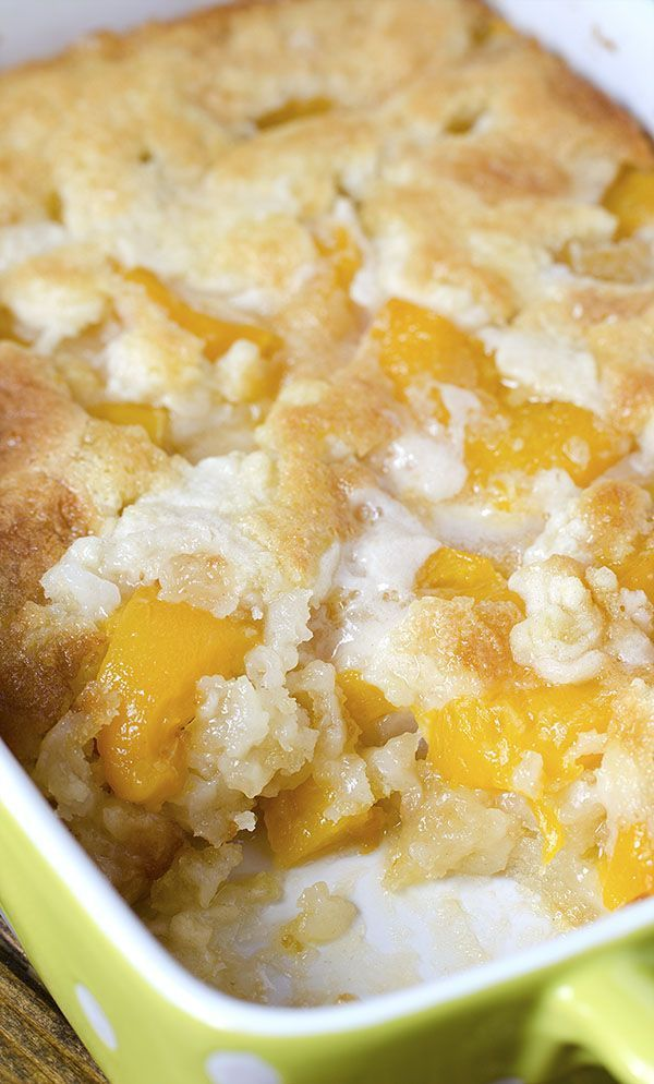 Easy Peach Cobbler There are three reasons why this fantastic Peach Cobbler can become one of your favorite recipes – it's super tasty, super simple and super economic.There are three reasons why this fantastic Peach Cobbler can become one of your favorite recipes – it's super tasty, super simple and super economic.