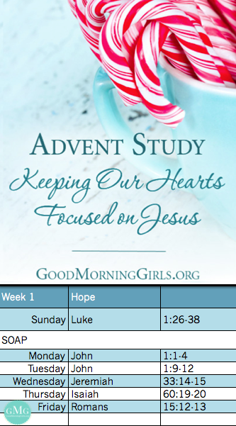#GoodMorningGirls #Advent Bible Reading Plan   Week 1