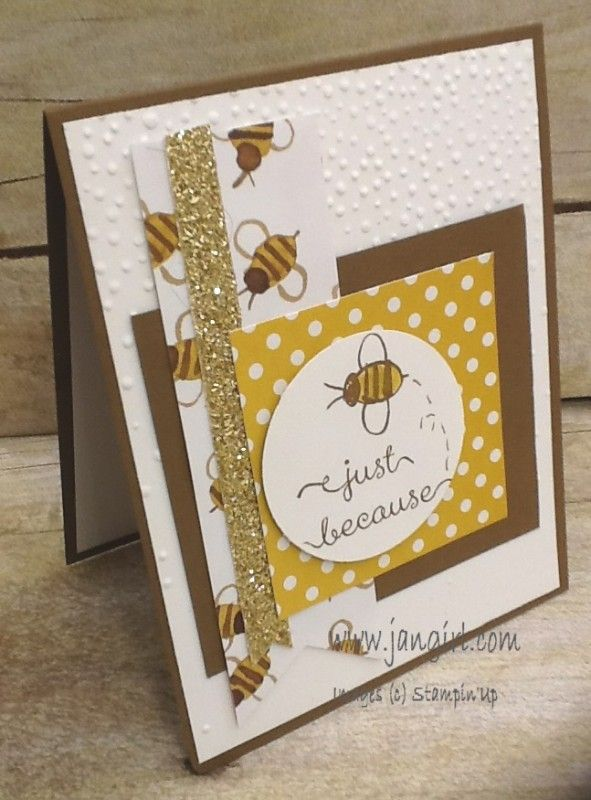 Garden in Bloom Bee card by holmesj - Cards and Paper Crafts at Splitcoaststampers