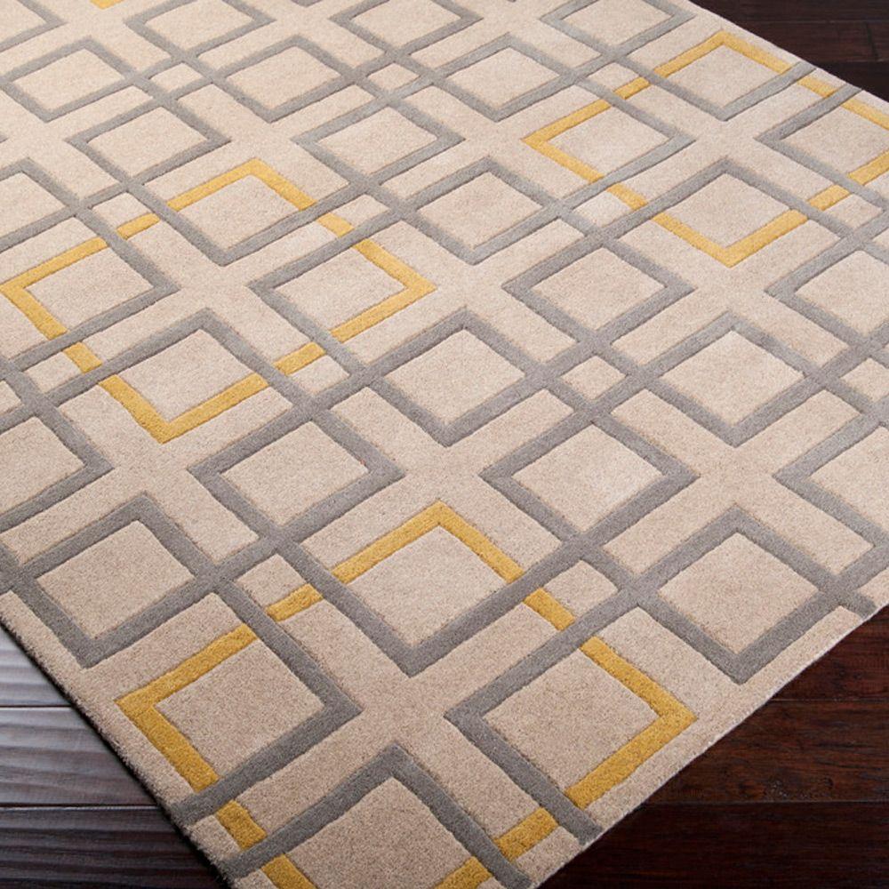 Plush Rug Zinc: Surya Art Studio Oyster Gray Tufted Wool Rug @Zinc_Door