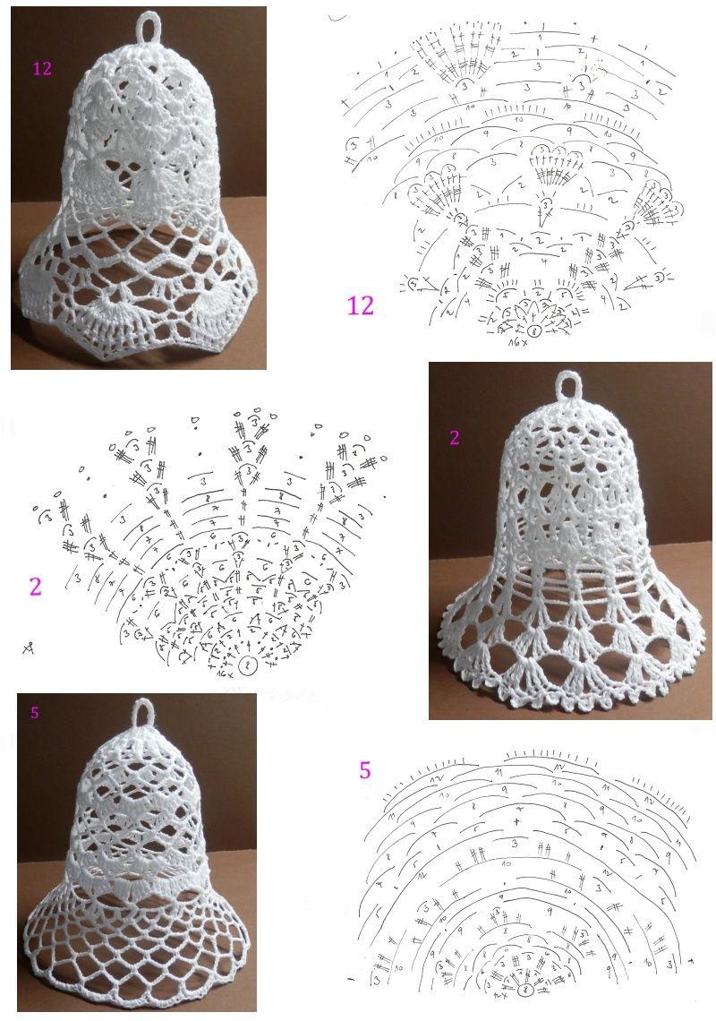 Campanelle natalizie | Christmas Crochet | Pinterest | Navidad ...