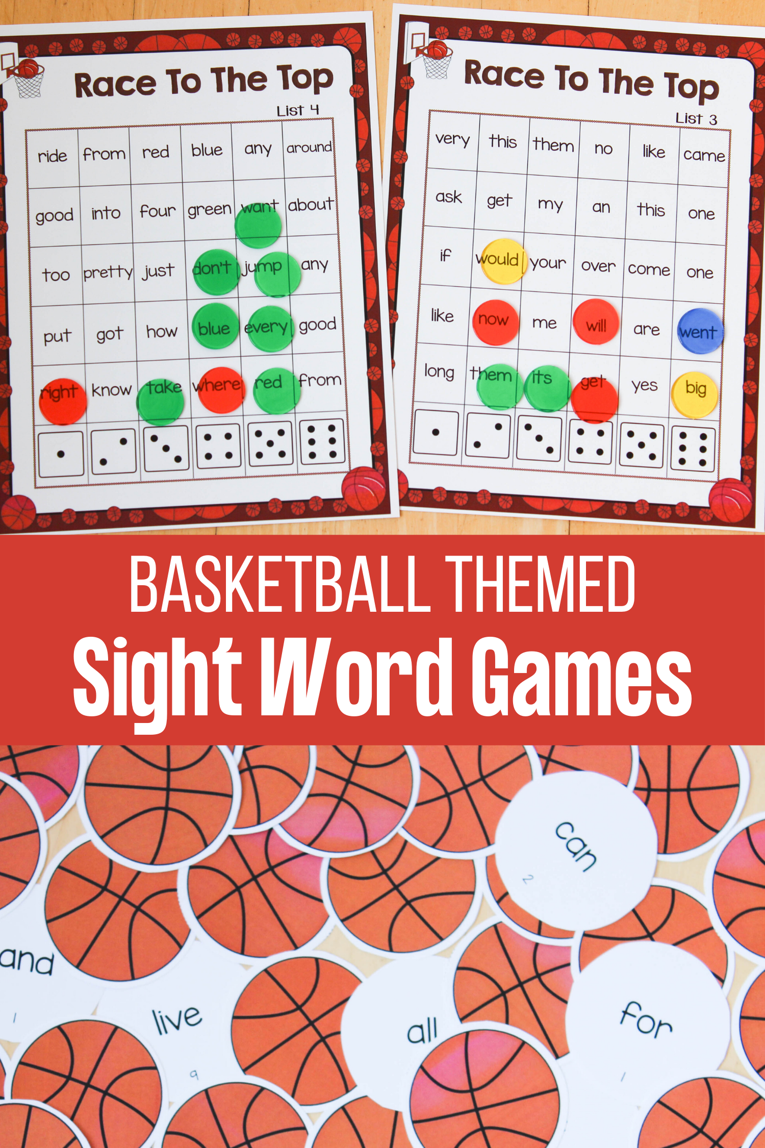 Basketball Themed Sight Word Games And Activities