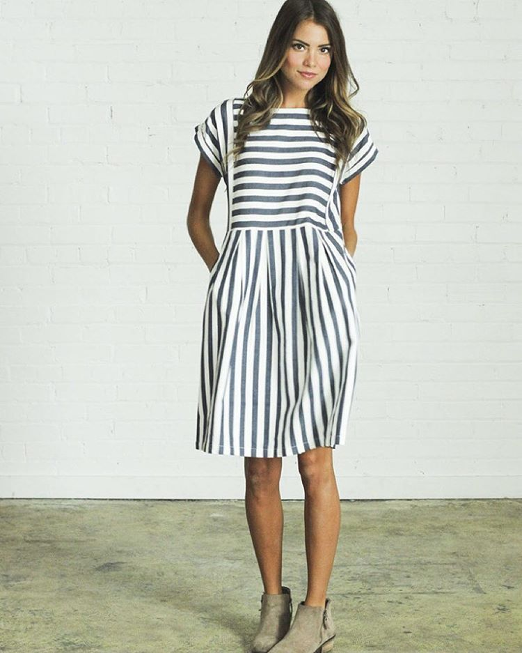 Maybe You Didn T Know We Released The Cutest Dress Ever Today Bib Stripe Is Available Now