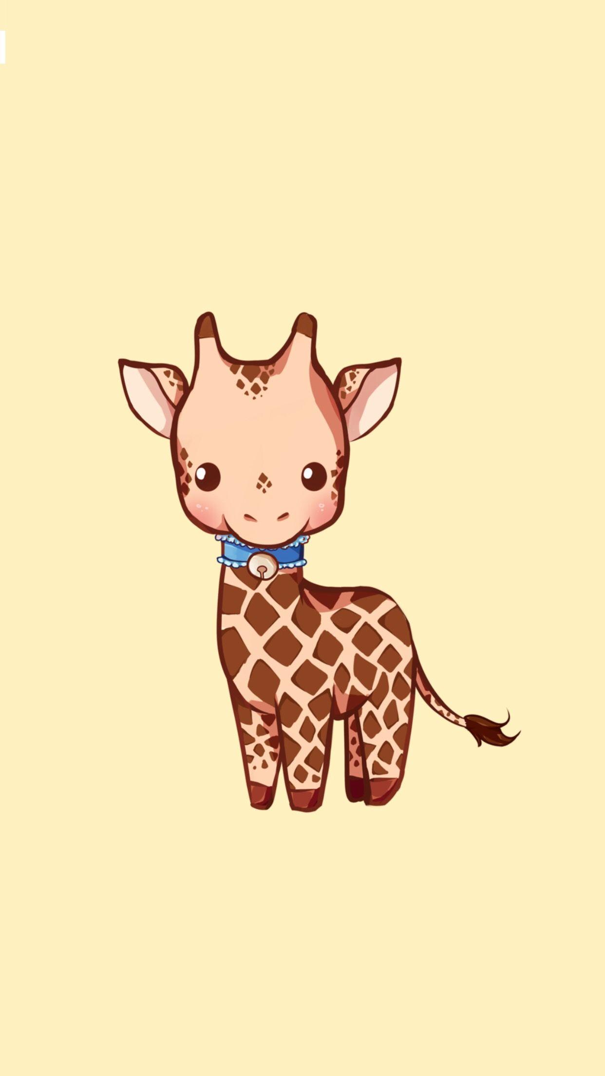 Baby Giraffe Lukisan Seni Jerapah Seni