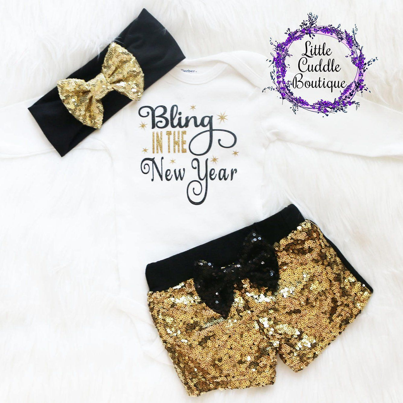 New Year S Baby Shorts Outfit Baby New Year Baby Girl Fashion New Years Outfit