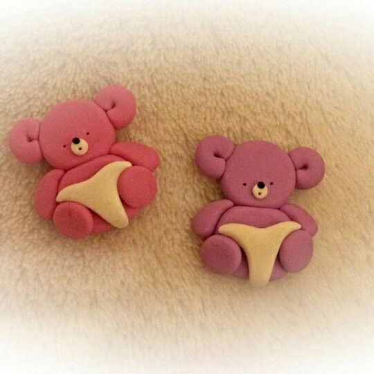 Baby bears to decorate your #greetingcards and #crafts  #cardmaking #bears #baby #babyshower #newborn #newbaby #twins #newmom #newmum #mumtobe #momtobe #toppers #miniatures #crafting