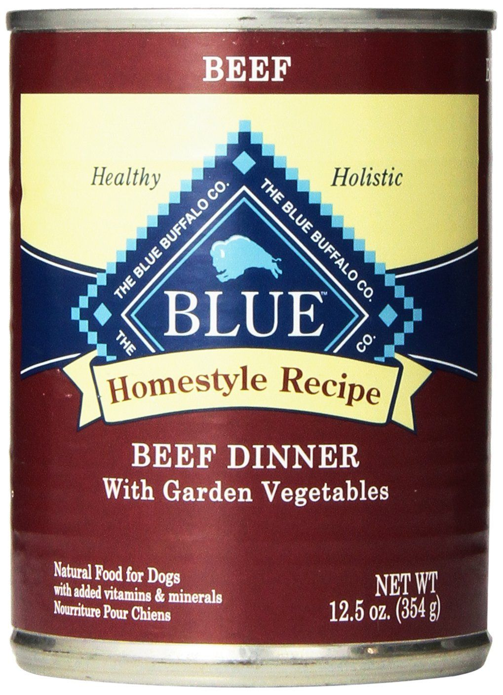 Blue buffalo canned dog food beef dinner pack of 12 125