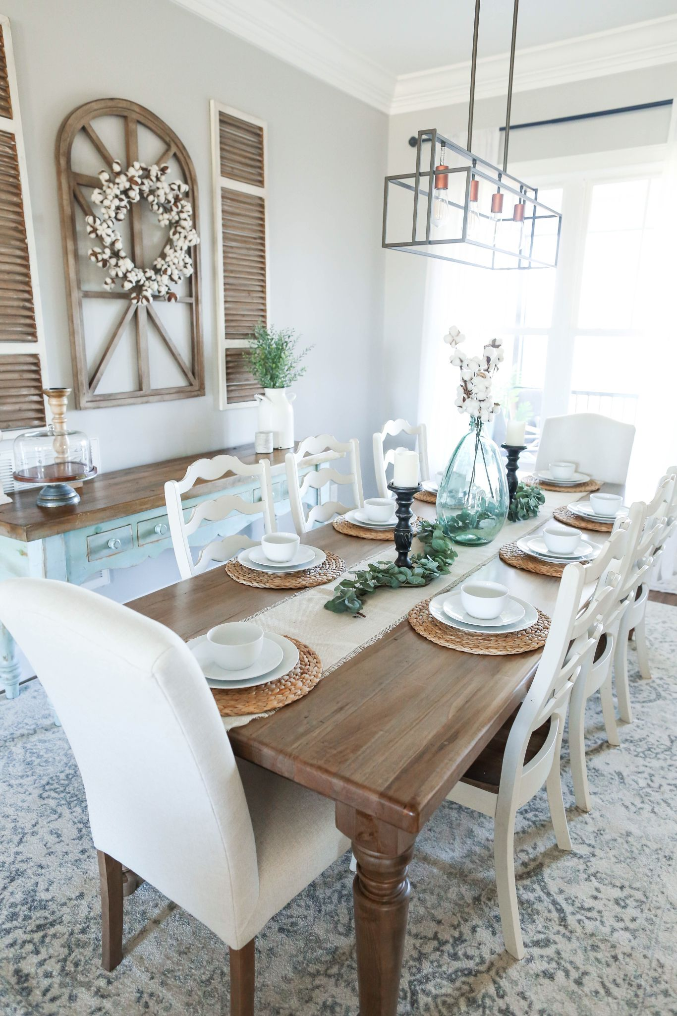 Farmhouse Spring Ii In 2020 Farmhouse Dining Room Table