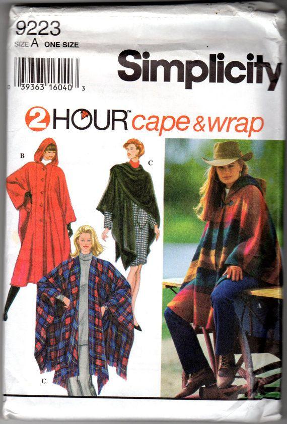 Cape Poncho Wrap Pattern Simplicity
