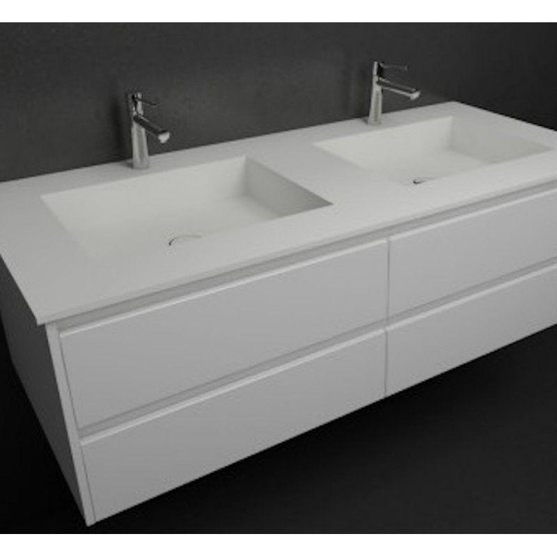 Plan double vasque en Corian meuble Toronto