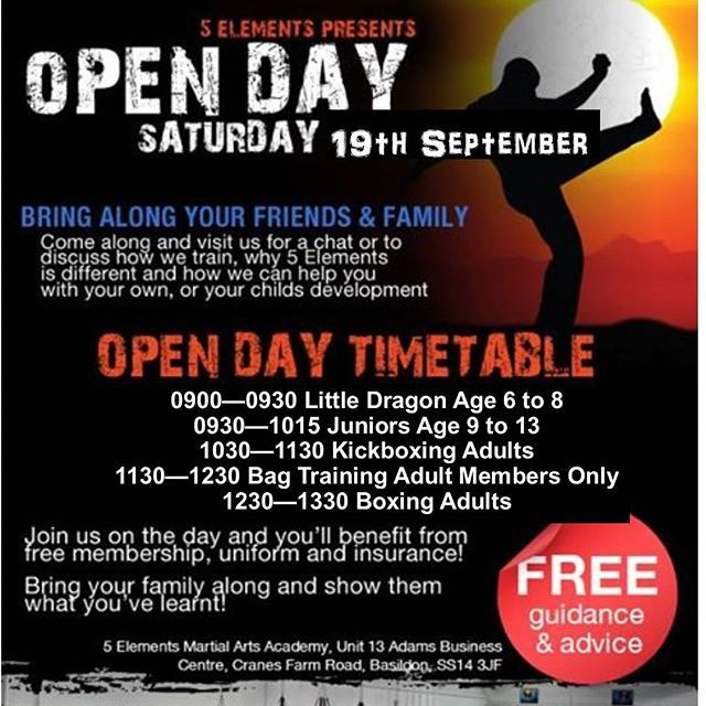Open Day At 5 Elements Martial Arts Academy Basildon Eswww 5 Elements