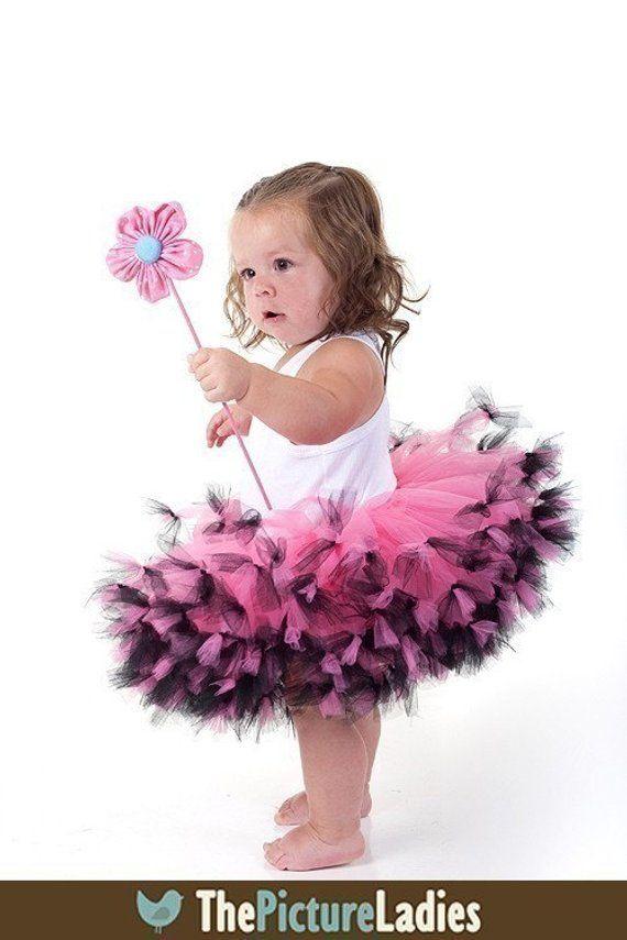 425fc48123 Hot Pink And Black Tutu Pink And Black Pettiskirt Toddler Tutu Dress Infant  Tutu 9 12 18 Month