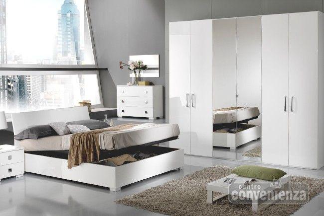 City   camera da letto matrimoniale completa con letto contenitore ...