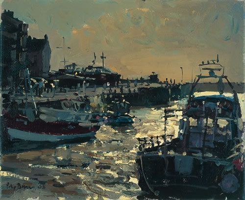 Peter Brown : West Bay, strong wind and light