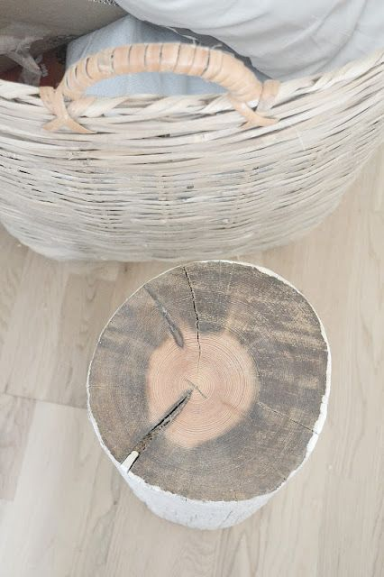 people throw out old logs all the time in my neighborhood, we could make these for the living room end tables