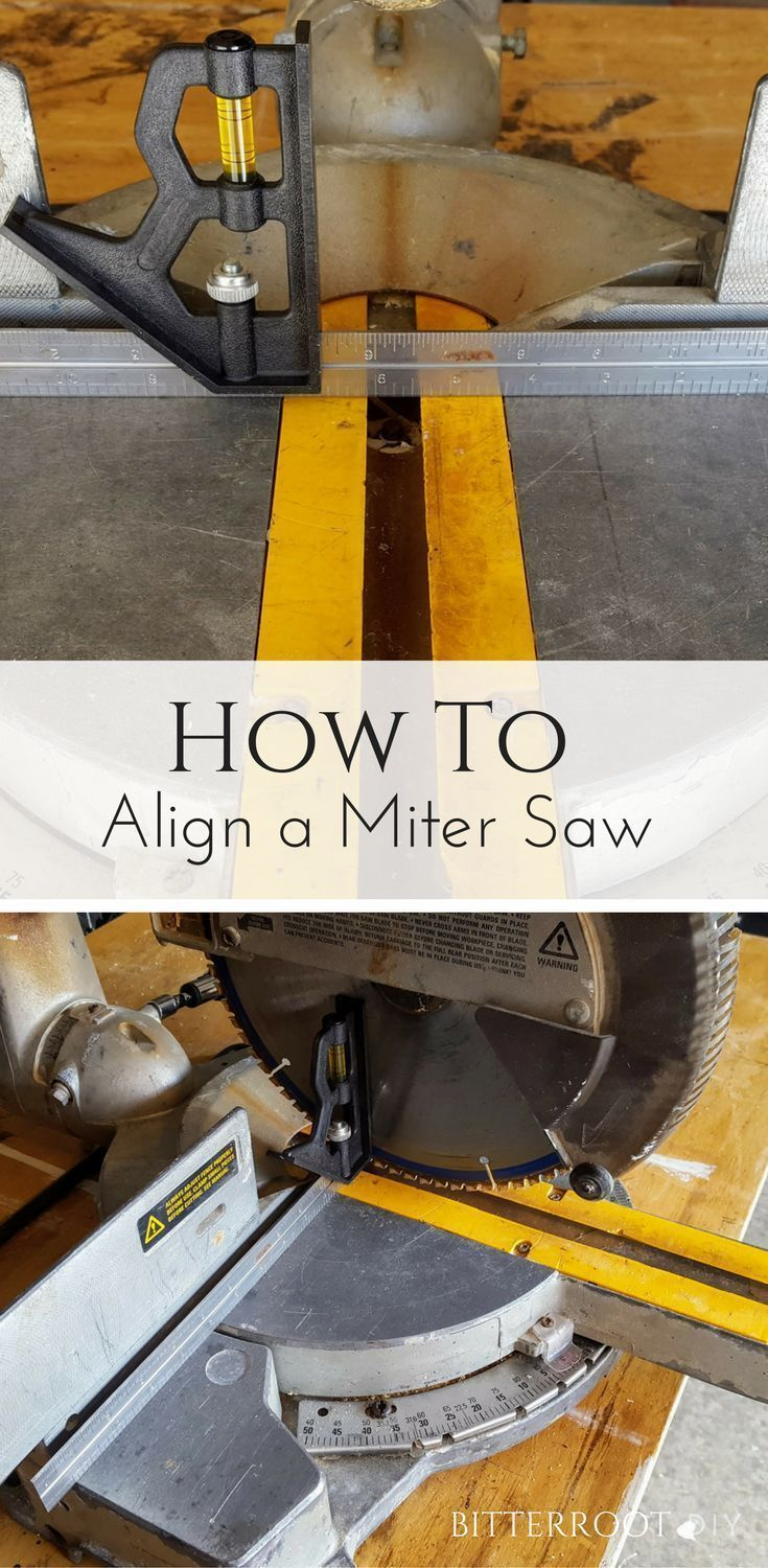 How to Align a Miter Saw | beginner woodworking, miter saw #woodworking #diy #mitersaw #woodworkingtips
