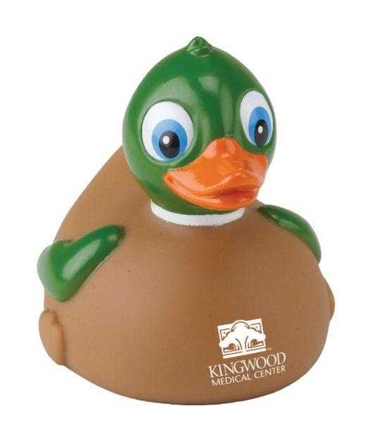 The Mallard rubber duck is 3 3/4\