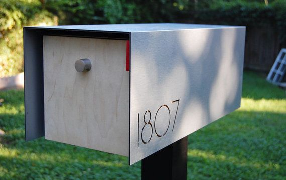 Exterior Agreeable White Mid Century Modern Mailboxes Modern