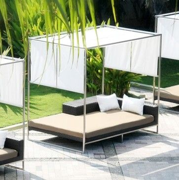 Outdoor daybed with canopy outdoor chaise lounges for Chaise lounge chicago