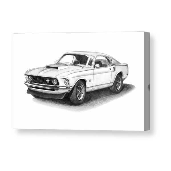 1969 Ford Mustang Boss 429 Canvas Print Ford Mustang 1969 I 2019