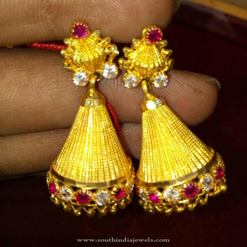 Traditional Gold Jhumka Design | Traditional, Gold and Models